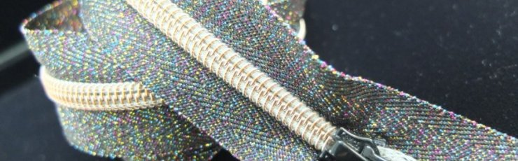 Metallic rainbow zipper