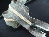 Metallic rainbow zipper